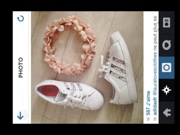 shoes adidas white girly