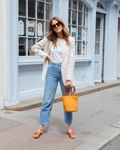 jeans,top,blazer,denims,hoes,shoes,bag,sunglasses
