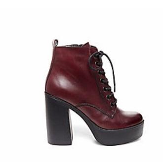 shoes red wine red wine red shoes red shoes high heels platform shoes burgundy shoes steve madden chunky heels