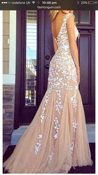 dress lace nude chiffon maxi maxi dress fashion party evening outfits long dress prom prom ideas prom dress long prom dress outfit