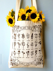 bag,plants,flowers,sunflower,bee,help save bees