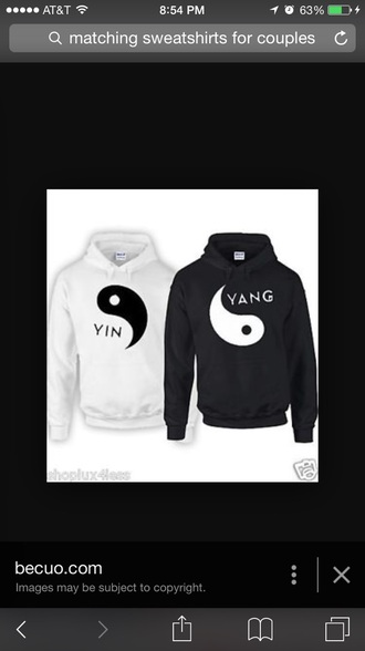 sweater yin yang matching sweatshirts