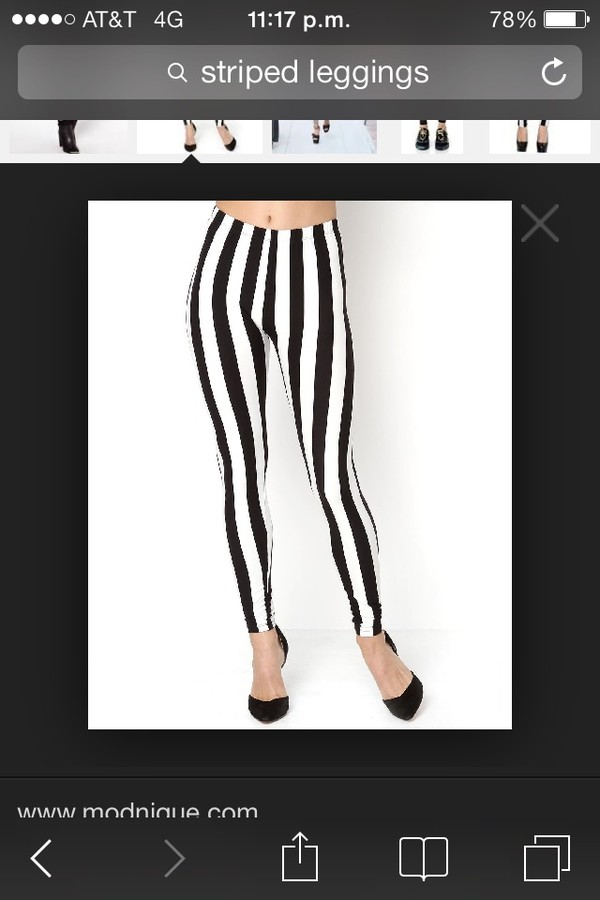 pants striped leggings black and white lines high waisted pretty trendy