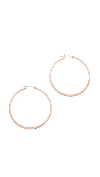 rose gold rose earrings hoop earrings gold jewels