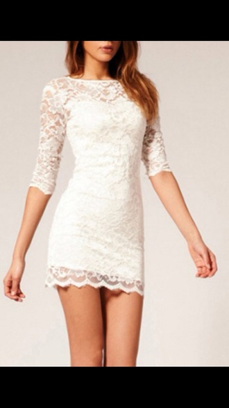 white dress black dress lace dress mini dress sexy dress dress white lace dress white lace