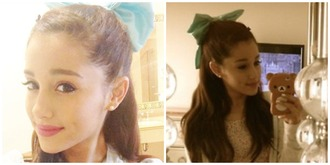 hat bow hair bow cute hair baby blue blue ariana grande disney walt disneyworld hair accessory blue bow shirt crop tops mint hair bow bear phone case sweet creamy hoodie black skinny jeans hoodie outfit colorful patterns polka dots jacket jeans tank top floral tank top green long hair fabric ribbon red hair pants top ariana grande white crop top butera fashion jewels sweater blouse