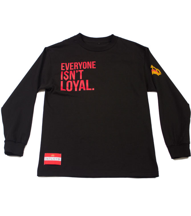 Everyone i$nt loyal long sleeve (black/red)