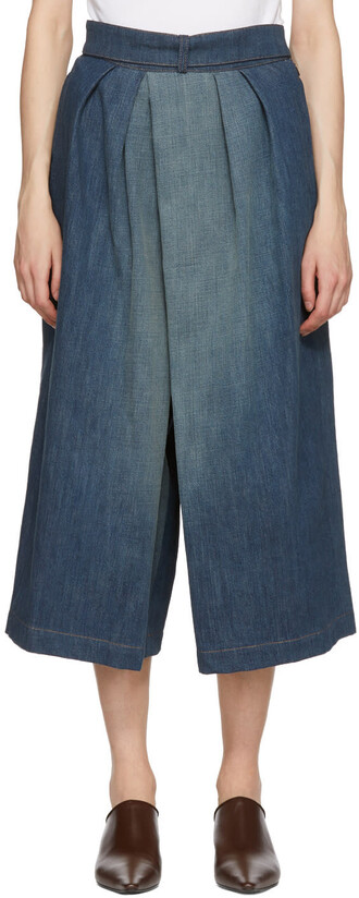 culottes denim culottes denim pants