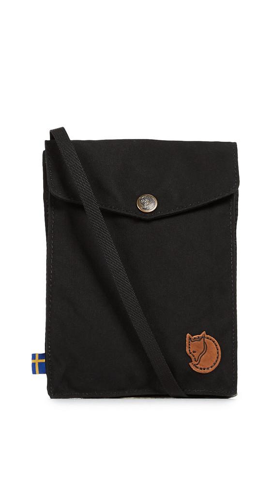 Fjallraven Pocket Cross Body Pouch in black