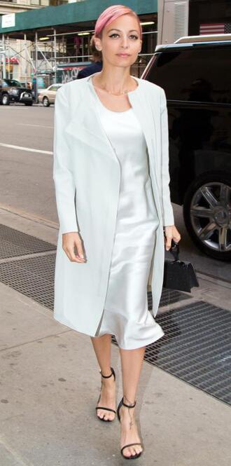 dress midi dress nicole richie sandals coat shoes