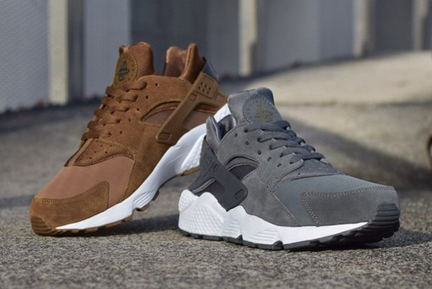 lowest price cff30 b58a2 shoes nike huarache grey suede
