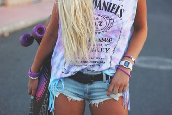 top summer purple white jack daniel's whiskey