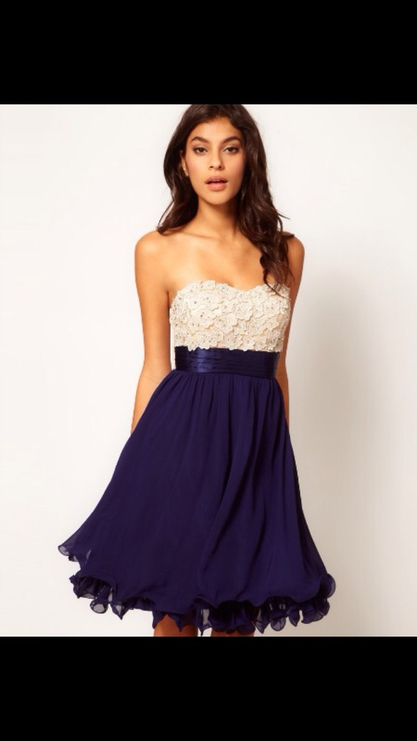 dress blue lace lace dress prom prom dress short