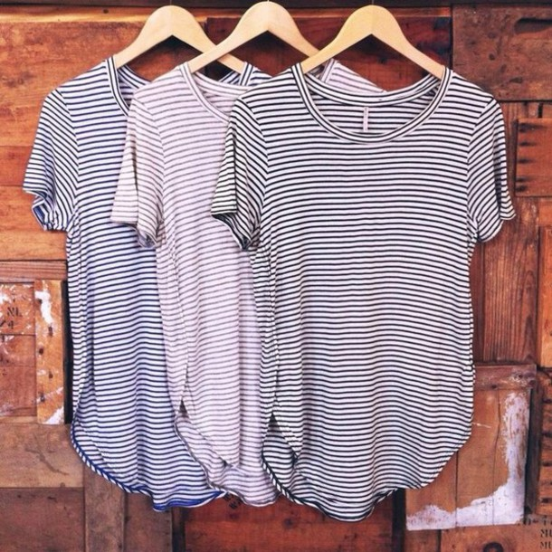 t-shirt basic top staple white plain white stripes striped shirt grey t-shirt grey t-shirt blouse black t-shirt pink purple unisex