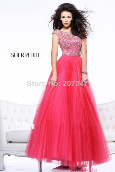 crystal dress prom dress