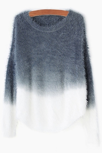 sweater grey ombre fashion style warm cozy gradient fall outfits winter outfits white