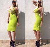 skirt,lime green skirt,lime,midi skirt,tank top,bodysuit,bodycon skirt,pencil skirt