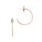Maha lozi halo hoop earrings - clear/rose gold
