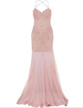 dress,prom dress,gown,prom gown,pink dress,blush pink,cheap prom dress