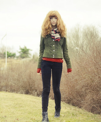 jacket velvet green fall outfits cropped small