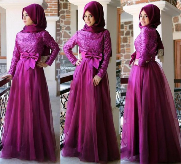 Prom dress high neck kaftan