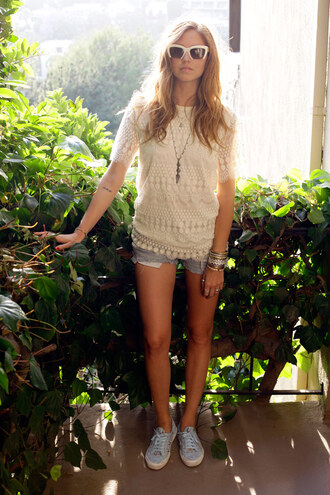 the blonde salad shoes shorts t-shirt jewels sunglasses dress superga