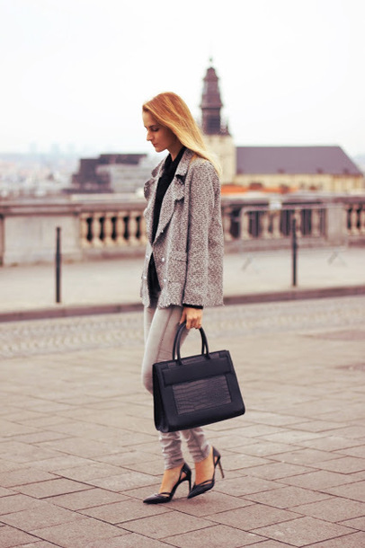 from brussels with love blogger jeans shirt shoes jacket bag jewels handbag high heel pumps pumps grey jacket