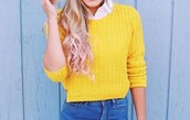 sweater,yellow,knitted sweater,cropped sweater