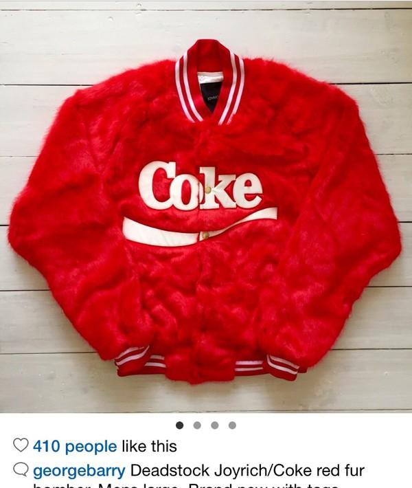 9e26d92d7 jacket, joyrich, fluffy, fuzzy jacket, bomber jacket, coca cola ...