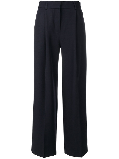 oversized women cotton blue wool pants