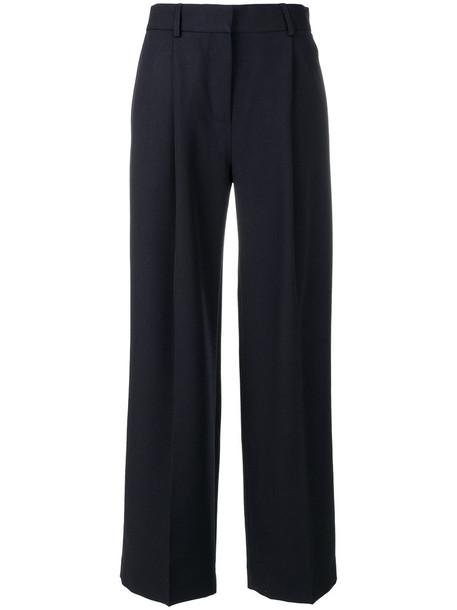Victoria Victoria Beckham oversized women cotton blue wool pants