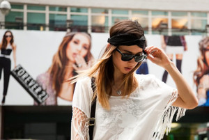 simple casual fringe top tshirt oversized rumi fashion toast white t-shirt