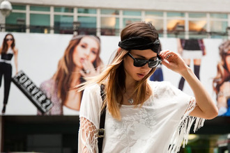 top white t-shirt oversized casual fringe t-shirt rumi fashion toast