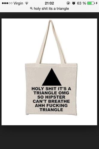 hipster bag tote bag hipster bag triangle
