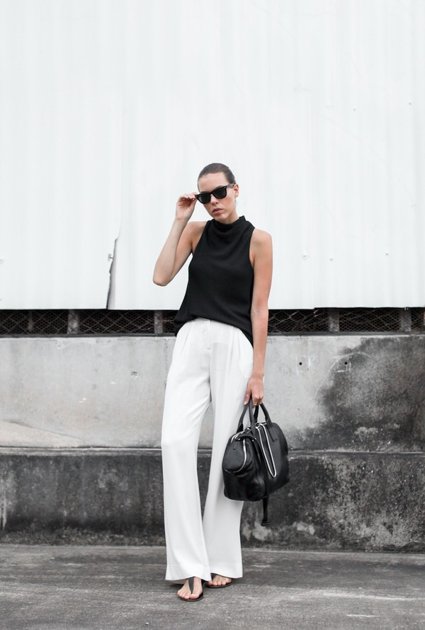 modern legacy t-shirt pants shoes sunglasses bag