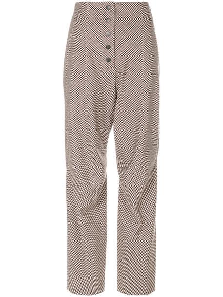 Stella McCartney high women cotton wool red pants