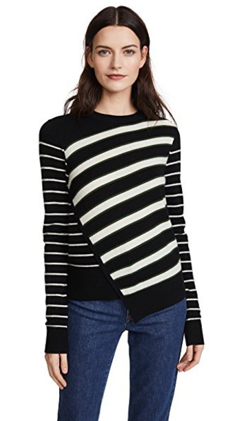 Veronica Beard sweater black green