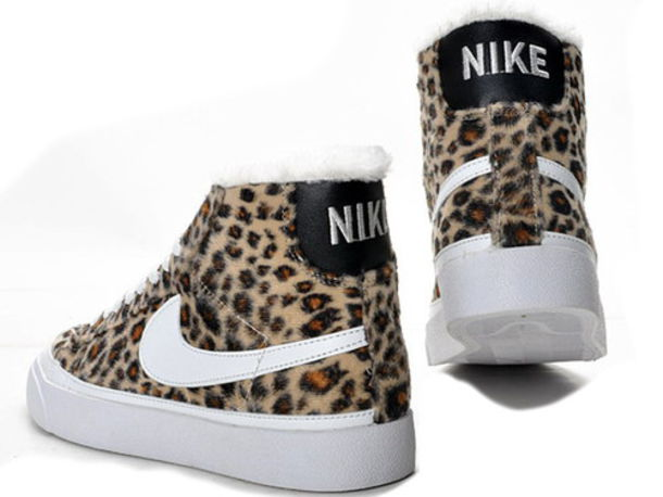 shoes, leopard print, nike blazer, nike sneakers, nike, baby shoes ...