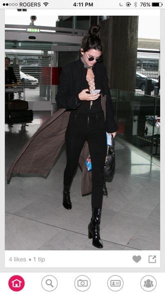 romper bodysuit kendall jenner style black black jumpsuit