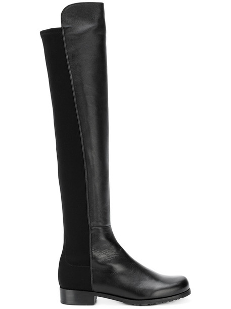 STUART WEITZMAN women over the knee leather black shoes