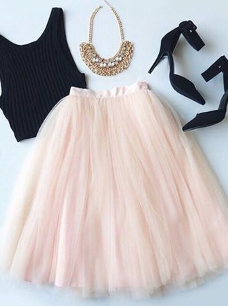 skirt light pink style fashion
