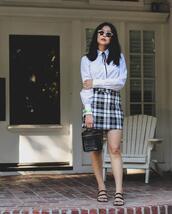 goodbadandfab,blogger,blouse,skirt,shoes