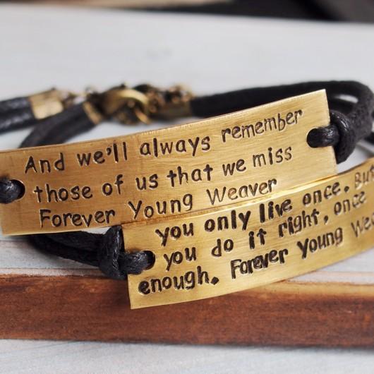 Engraved bracelet, quote bracelet, couples bracelet personalized, brass bracelet, turntopretty | Personalized Bracelets | Custom Necklace | Wholesale craft supplies | Turntopretty
