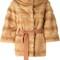 Liska 'philippa' coat, women's, size: large, nude/neutrals, mink fur