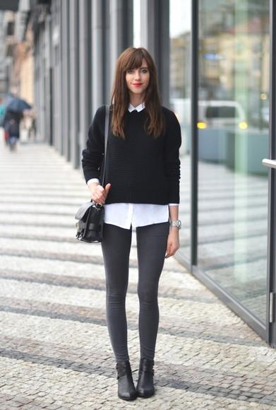blogger bag jeans white shirt vogue haus preppy