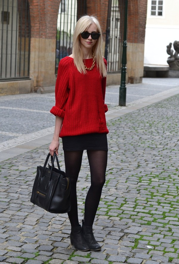 vogue haus sweater skirt shoes jewels bag