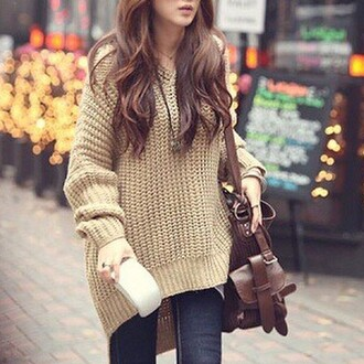 hoodie cute winter sweater style knitwear oversized sweater doublelw fall outfits fashion girly clothes