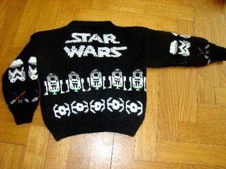sweater christmas knitwear star wars