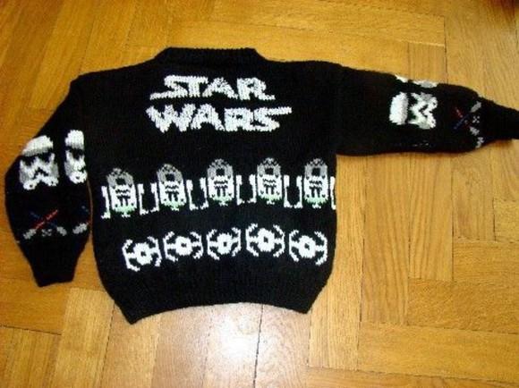 stormtrooper sweater starwars christmas jedi star wars look gift knitwear