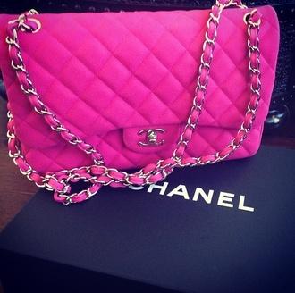 bag chanel pink bag